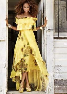 Tyra Banks  in a Rodarte dress