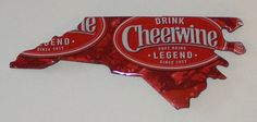NORTH CAROLINA NC Shaped Magnet Cheerwine Soda by SodaCanBuddies