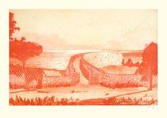 Peter Doig (British, b. 1959), Muldenberg, 2000/01. Aquatint in red on wove paper, 72.5 x 111 cm (96 x 133 cm)