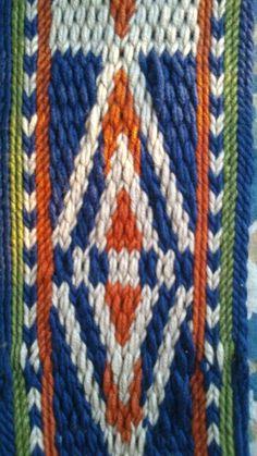 Card weaving blue orange2