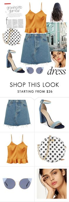 """A walk down the city streets"" by messywardrobe ❤ liked on Polyvore featuring RE/DONE, GUESS, MANGO, Dolce&Gabbana and Fendi"