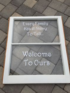 Custom family window- made by Krystle's Craft Closet