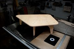 AtFab coffee table made on a Shopbot CNC router by Tree on a Hill Workshop
