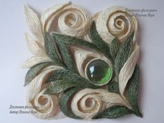 OK.RU -  made out of jute with a technique very similar to quilling
