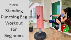 This Free Standing Punching Bag Workout is a great workout to challenge your entire body. In this routine, you will learn the basic moves to perform on the f. Boxing Workout With Bag, Punching Bag Workout, Home Boxing Workout, Heavy Bag Workout, Boxing Punching Bag, Kick Boxing, Kickboxing Workout, Workout Exercises, Body Workouts