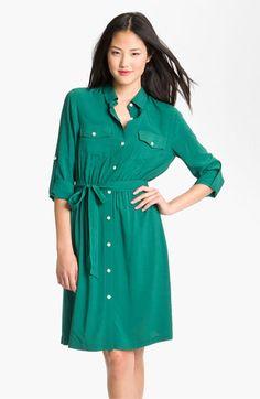 DKNYC Roll Sleeve Shirtdress