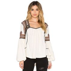Free People Snow Kisses Blouse Tops (170 CAD) ❤ liked on Polyvore featuring tops, blouses, embroidered blouse, cut out blouse, white embroidered blouse, white top and white embroidered top