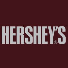 """The Hershey's logo is the text """"Hereshey's"""" in capitals set on the chocolate brown bar. The font is very similar to Swiss 911 Extra Compressed or Helvetica Extra Compressed..."""