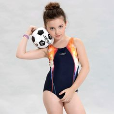 swimwear swimsuit Girls swimsuits children racing competition  kids swimming suits professional