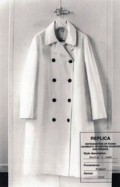 Maison Martin Margiela - S/S 2005 Line 14. Since 2003 were introduced garments named 'Replica', reproductions of archetypal second-hand garments from different style periods. This is the Reproduction of a doctor's coat from the 1920s. Provenance: France. Photo Marina Faust