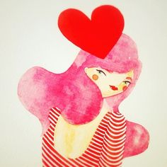 thoughts of love l red + pink