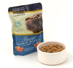 Made with Salmon and Seaweed, this light, airy mousse will be a gastronomic delight for your cat.  Finest Salmon Mousse for Cats can be enjoyed as a compliment to dry food or just on its own.  Naturally gluten free with no artificial preservatives or colourings added.  Why not try our fabulously fishy complete food too?  Hands off you dogs – this one is for us cats!
