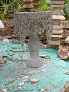 "Found this photo of ""concrete crochet lace"" and loved the look. Link was blocked but I saved the idea. I can follow other directions to do this."