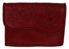 Chic ruby red clutch handbag on super soft leather with a braided fringe on the flap  http://cobaltohandbags.com/http%3A//cobaltohandbags.com/product-catalog/mexican-handmade-leather-woven-handbags-purses/840247-tributo-clutch-red  #clutch #handbag #purse #bolsa #bolso #embrague #cabo #loscabos #unstoppable #mexico #fashion #moda #estilo #piel #cuero #ruby #red #rubyred #hechaamano #handmade