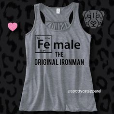 FE maleThe Original IRONMANFlowy tank by SpottyCatApparel on Etsy