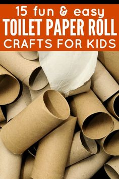 If you're looking for EASY activities to keep your little ones occupied, this collection of toilet paper crafts for kids is a great place to start. These DIY ideas are great for toddlers and school-aged children, and with a little imagination, they can be adapated for the seasons (fall, winter, spring, and summer) and holidays (Christmas, Easter, Halloween, etc.).