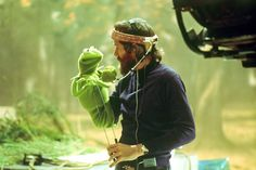 """Kermie and Jim Henson (the Muppets)  """"The most sophisticated people I know - inside they are all children."""""""
