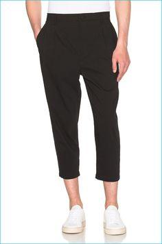Helmut Lang Micro Seersucker Cropped Trousers