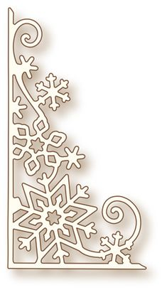 Wild Rose Studio - Cutting Die - Snowflake Corner - The Rubber Buggy in Crafts, Scrapbooking & Paper Crafts, Scrapbooking Tools Simple Snowflake, Snowflake Craft, Paper Snowflakes, Christmas Holidays, Christmas Crafts, Christmas Decorations, Xmas, Christmas Ornaments, Snowflake Decorations