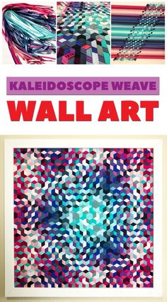 Kaleidoscope Weave Wall Art - Fabric Weaving - craft project with Mister Domestic Fabric Wall Art, Diy Wall Art, Strip Quilts, Scrappy Quilts, Spiral Art, Principles Of Art, Contemporary Quilts, Art Gallery Fabrics, Weaving Projects
