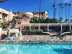 Beverly Hills Hotel Pool BHH Polo Lounge Beverly by ChicByTheBeach