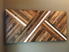 Wood Wall Art - READY TO SHIP in 15-20 business days - FREE SHIPPING Gorgeous wall art made from individually cut and stained pieces of wood. This piece is 24 x 48 inches. Proper hangers are included for easy hanging. Contact us directly for customization of piece, whether it be size, color palette, or design. Just click the link for Contact Shop Owner or the link for requesting a custom order. We will be in touch quickly! Like our facebook page and get special discounts and offers…