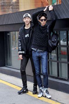 Nam Joo Hyuk and Joo Woo Jae - Street Style
