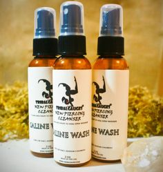 Ear Gauge SALINE WASH Cleans and helps to heal by TribalGauges, $9.99