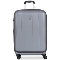 """Delsey Helium Shadow 3.0 25"""" Expandable Hardside Spinner Suitcase, In... ($160) ❤ liked on Polyvore featuring bags, luggage and platinum"""