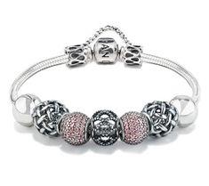 The Pandora Full Pink Bracelet Designed by Sarah Harding