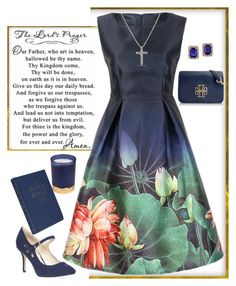 """""""Sunday"""" by easy-dressing ❤ liked on Polyvore featuring Paddywax, David Yurman, Tory Burch, Dorothy Perkins, Effy Jewelry, WhatToWear, sunday and darkfloral"""