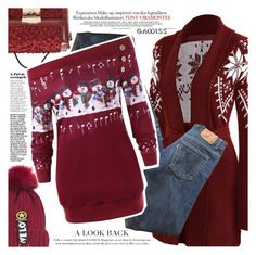 """Christmas"" by vanjazivadinovic ❤ liked on Polyvore featuring Levi's"