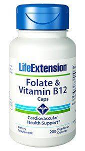 Folate & Vitamin B12 Caps, 200 vegetarian capsules: Folate is a member of… #Life_Extension #health #heart #hearthealth #LifeExtension_com