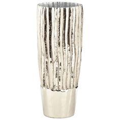 Cyan Design Large Sardinia Vase Sardinia 18 Inch Tall Aluminum Vase Made in Indi Nickel Home Decor Accents Vases