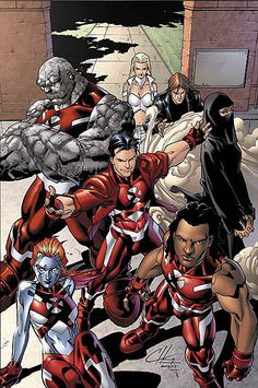 Hellions ( Rockslide, Dust, Mercury, Hellion, Tag, Wither, White Queen) - New X-Men    #Xmen