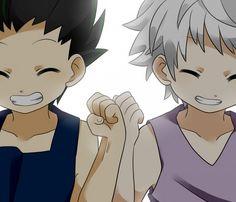 Gon and Killua are so cute! ^^