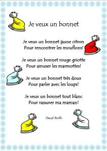 je veux un bonnet French Poems, Art For Kids, Education, Cycle 1, Images, Kandinsky, Children, Inspiration, French Tips