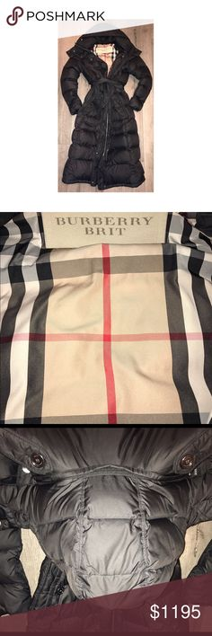 Burberry Down-filled Coat w Detachable Hood. Down-filled Puffer Coat with Detachable Hood.  Retails 1295.   This is a discontinued style and very hard to buy in stores.  Authentic Burberry Brit Burberry Jackets & Coats Puffers