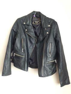 Biker Style Leather Look Jacket   | eBay