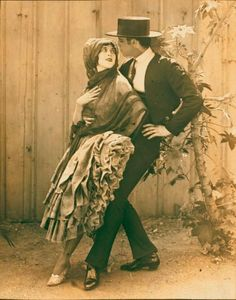 Ted Shawn in Malaguena with Martha Graham. (1921)
