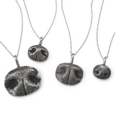 Custom Pet Nose Print Necklace.  Not sure if adorable or creppy....