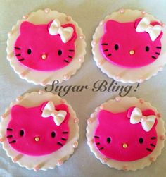 Hello Kitty Cupcake Toppers on Etsy, $21.00
