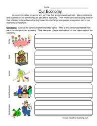 Economy Worksheet - Have Fun Teaching
