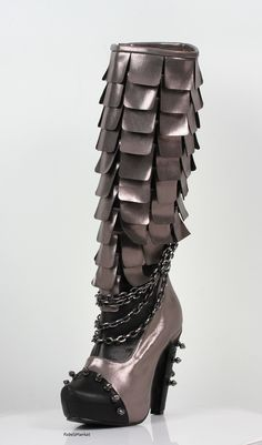 Hades Shoes Caymene Gunmetal Steampunk Boots