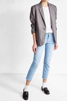 Church's Leather Tassel Loafers Neutral Outfit, Tassel Loafers, T Shirt And Jeans, Leather Tassel, Suit Jacket, Blazer, Jackets, Shirts, Outfits