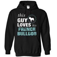This guy loves his french bulldog