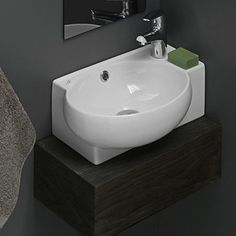 CeraStyle by Nameeks Mini Corner Ceramic Bathroom Sink SKU #: CERN1026