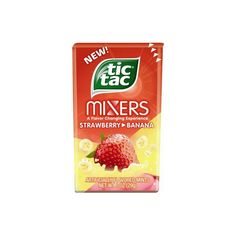Tic Tac Mint Mixers, Strawberry Banana, 1 Oz, (Pack of Peach Lemonade, Chips, Mint Cookies, Mint Candy, Snack Recipes, Snacks, Weird Food, Strawberry Banana, Unique Recipes