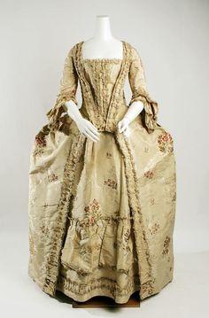 Dress (Robe à la Française) French 1750's