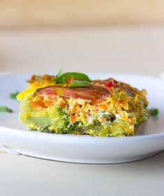 Rainbow Veggie Baked Frittata